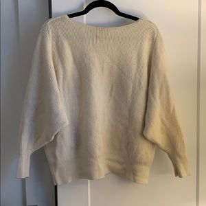 Cream wool Club Monaco sweater